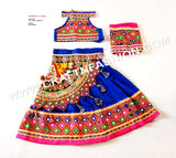 Designer Kutch Embroidered Kids LEhenga Choli