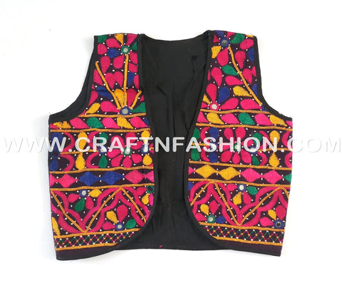 Gujarati Traditional Embroidered Koti - Jacket