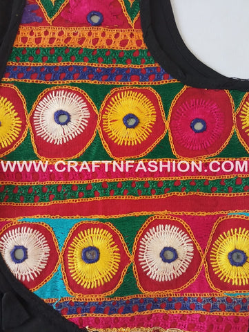 Indian Fusion  Embroidered Kutchi short Koti.
