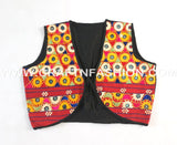 Kutchi Embroidered Cotton Shrug - Koti