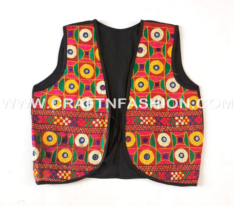 Kutch Mirror work Embroidered Jacket - koti