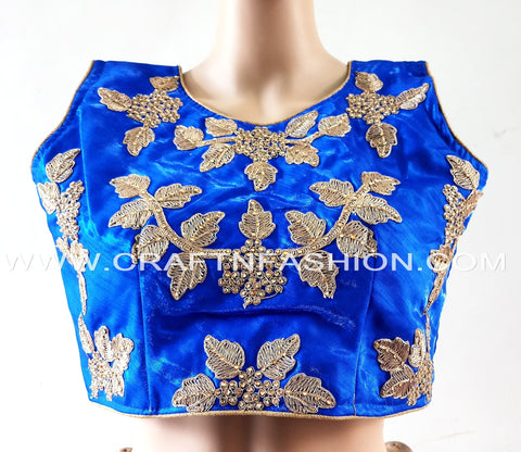 Indian Party Wear Blouse/Crop Top For Sari/Lehenga Choli