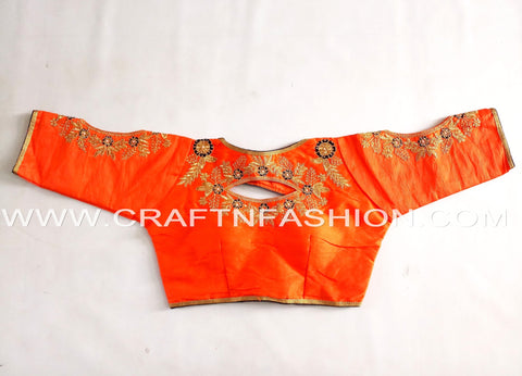 Party Wear Royal Looking Designer Cotton Silk Sari Blouse