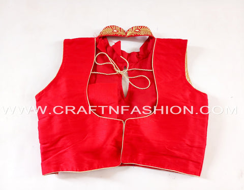 Latest Designer Cotton Silk Crop Top Blouse