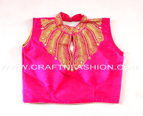 Latest Bollywood Fashion Embroidery Work Sari Blouse/Crop Top