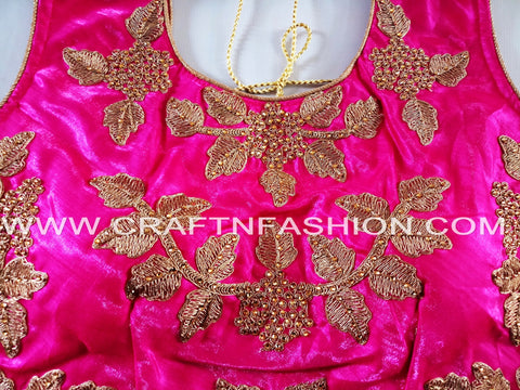 Designer Indian Silk Sari Party Wear Blouse