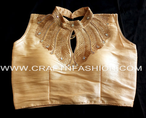 Trendy Indian Silk Saree Blouse/Crop Top