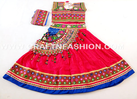 Kutch Embroidery Mirror Work Chaniya Choli