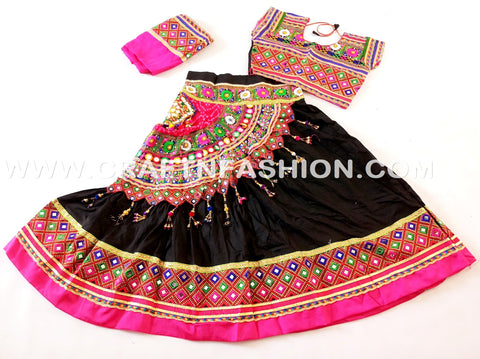 Bohemian Banjara Embroidered Chaniya Choli
