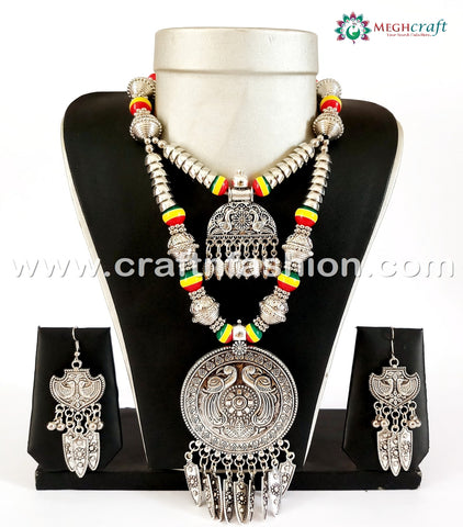 Indian Vintage Style Oxidized Necklace Set.
