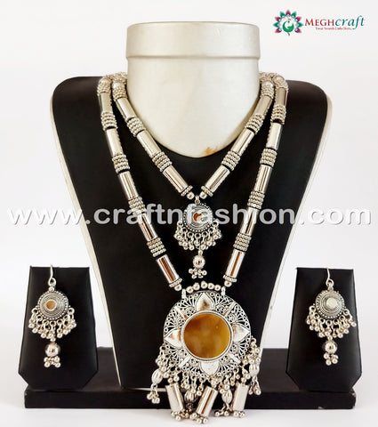 Navratri Special Vintage Oxidized Necklace.