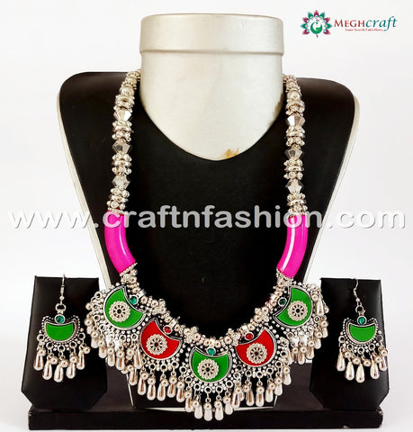 Fashionable Banjara Oxidized Necklace.