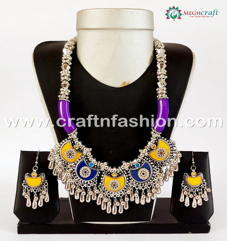 Antique Dandiya Dance Costume Necklace.