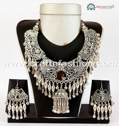 2018 Navratri Wear Women's Oxidized Necklace.
