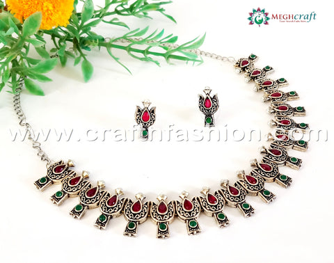 Vintage Oxidized Ladies Fashionable Necklace.