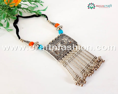 Fashion Wear Tribal Style Oxidized Necklace.