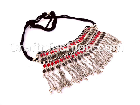 Afghani Style Stone Statement Necklace