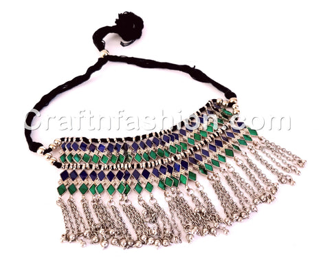Multicolored Stone Belly Dance Choker Necklace