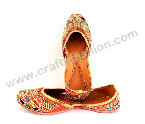 Designer Beaded Punjabi Leather Jutti