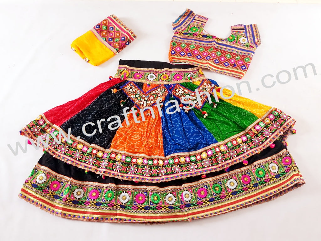Fashionable Embroidered Garba Costume Dress