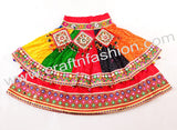 Bandhej Lehenga Choli With Mirror & Shell Work