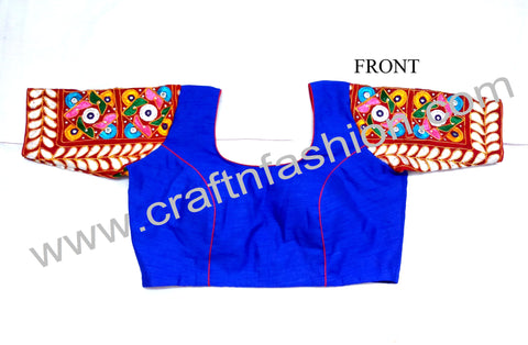 Ethnic Kutch Embroidered Navratri Wear Saree Blouse.