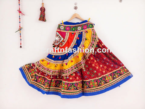Hippie Boho Dandiya Dance Wear Ghaghra Choli