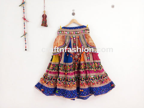 Kutch Embroidered Multicolored Lehenga Choli
