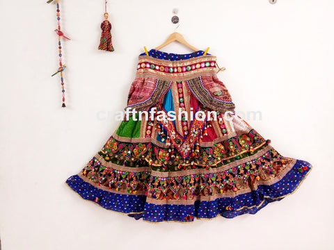 Mirror Work Pom Pom Tassels Chaniya Choli