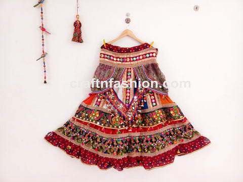2019 Multicolored Bohemian Lehenga Choli