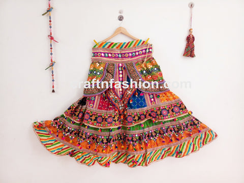 Gujarati Traditional Embroidered Sanedo Chaniya Choli