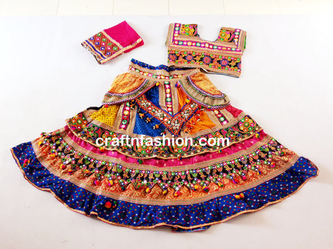 Banjara Style Embroidered Mirror Work Chaniya Choli