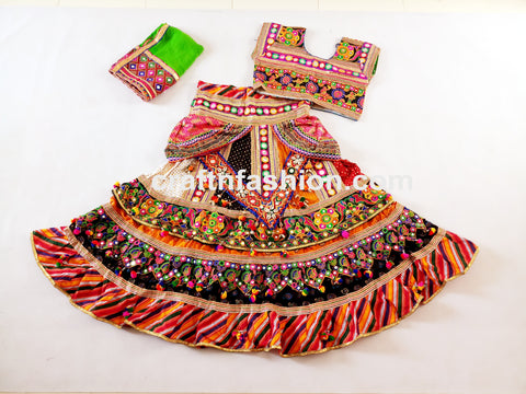 Pom Pom Tassels Beaded Chaniya Choli