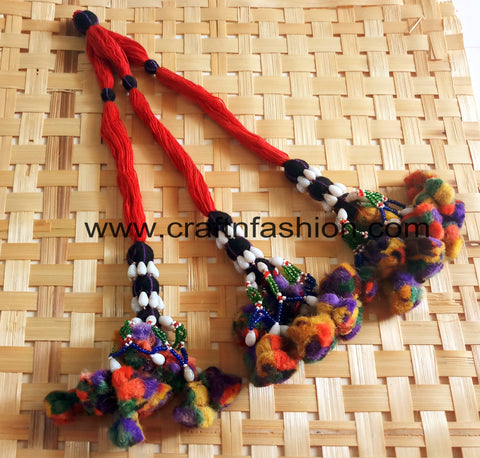 Gujarati Traditional Beaded Pom Pom Tassels