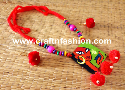 Fashion Wear Cotton Thread Beads Necklace