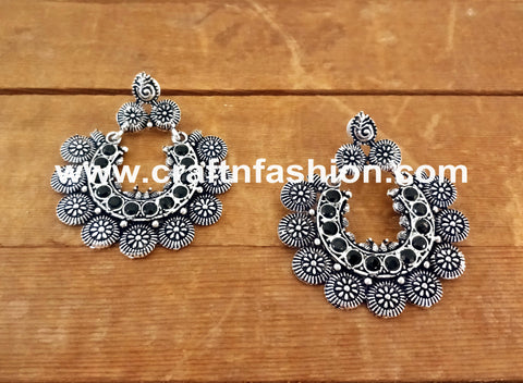 Designer Navratri Wear Oxidize Earrings