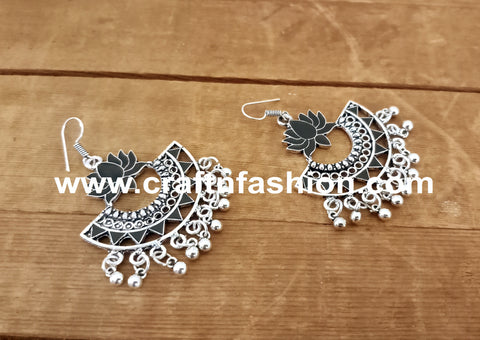 Afghan Style Lotus Design Earrings