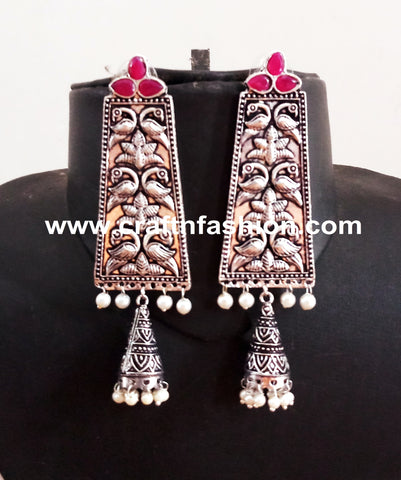 Fashion Wear Oxidized Dangle Earrings