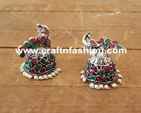 Exclusive Peacock Design Jhumka