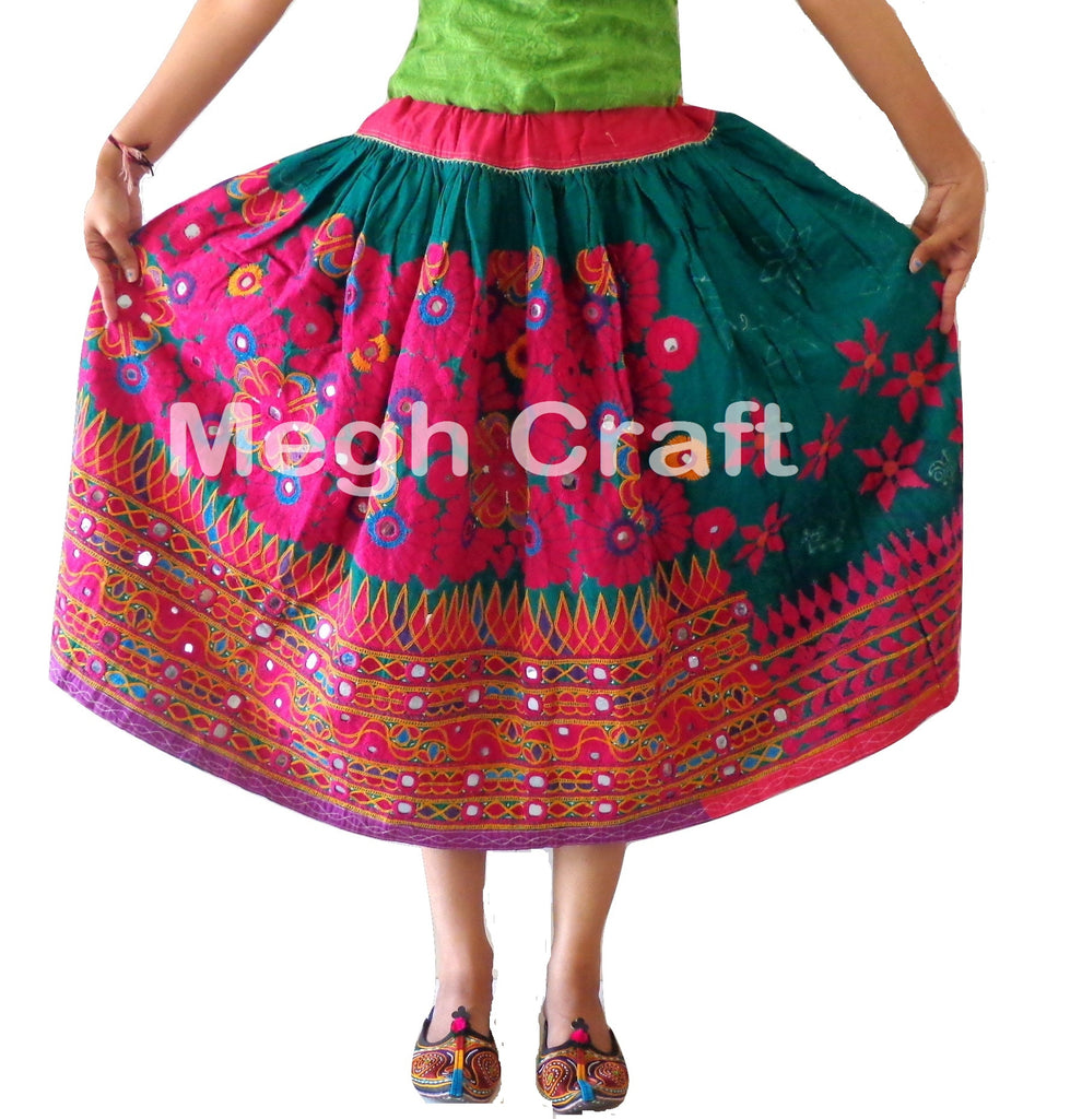 Indian Vintage Gujarati kutchi Skirt.