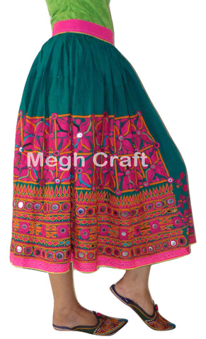 Ladies Tribal Style Embroidered Skirt.
