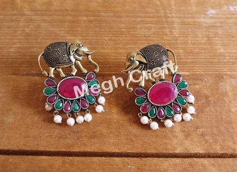 Party Wear Elephant Design Earrings