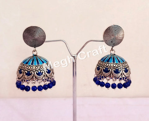 Pearl Beaded Afghan Style Earrings