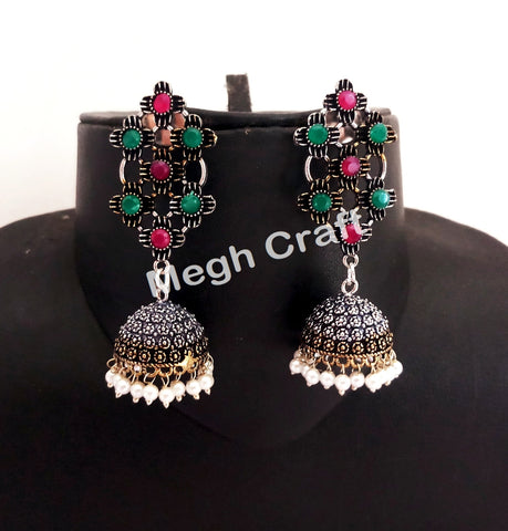 Women Fashion German Silver Earrings