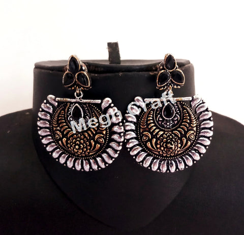 Dandiya Dance Wear Oxidized Earrings