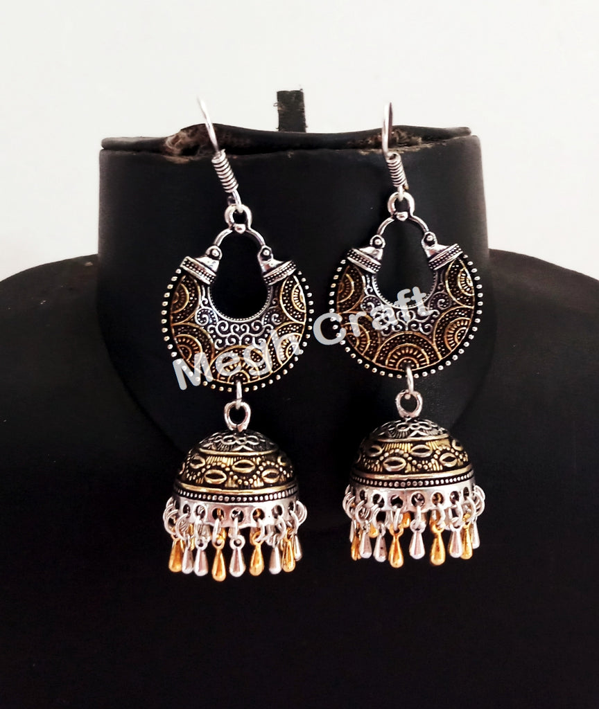Indian Ethnic Silver Plated Earrings