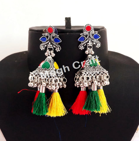 Navratri Festival Wear Oxidized Earrings