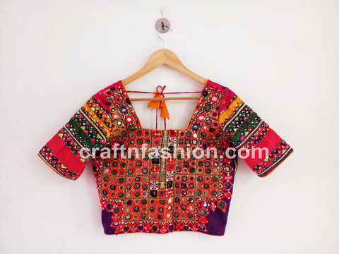 Traditional Dandiya Dance Wear Colorful Top