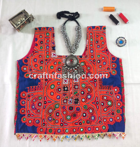 2019 Bandhej Heavy Mirror Work Navratri Top