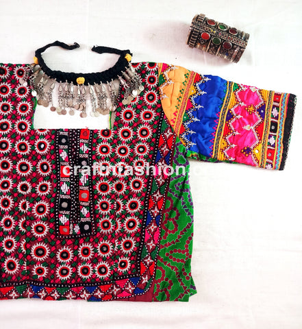Rabari Embroidery Dandiya Dance Wear Top